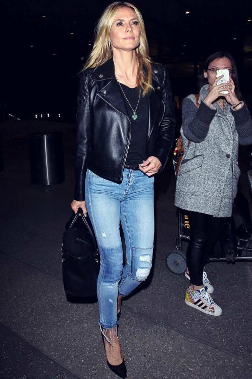 Steal her luxe style: How to get Heidi Klum's biker look | The Luxe Lookbook