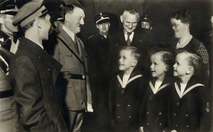 Adolf Hitler and Dr Goebbels