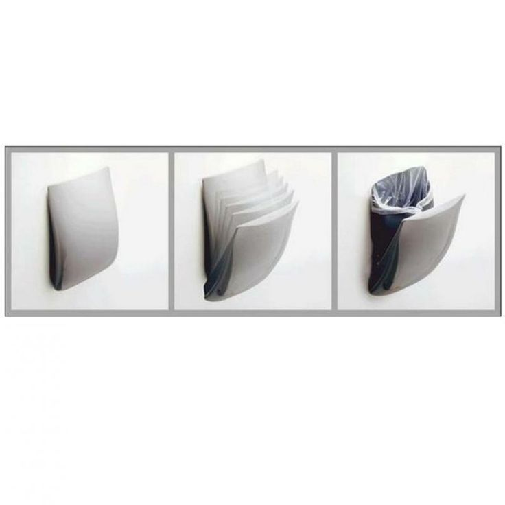 Pressalit Wall Mounted Waste Basket. Folds Away When Not In Use
