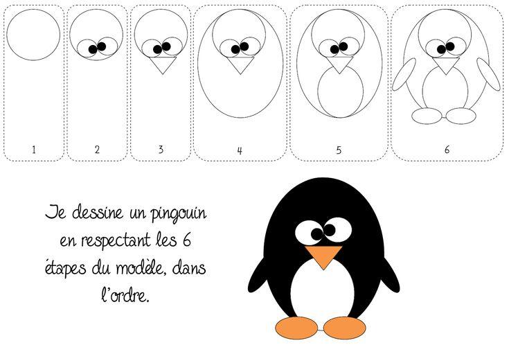 Modèle - Dessiner un pingouin