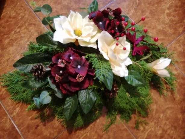 Wiązanka , kwiat sztuczny,stroik na nagrobek Gniezno - image 1