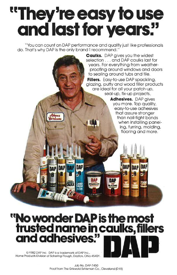 Check out this DAP print ad from 1982! #vintage #magazine #oldschool