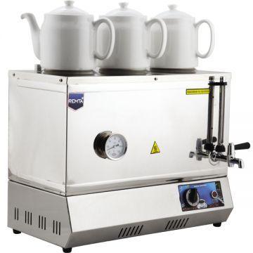 Remta Çay Kazanı Elektrikli Pleytsiz 3 Demlikli 33 Lt