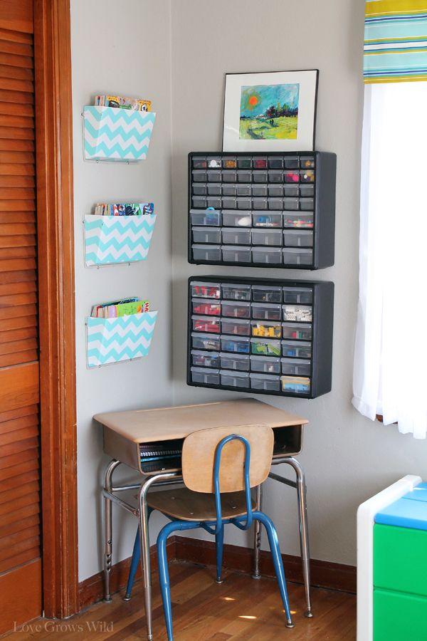 Best 25 kids desk organization ideas on pinterest study for Kids room organization