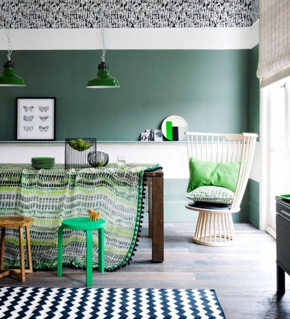 #homedecor #greendecor #interiordesign DECORATING WITH GREEN ... and all the other colors