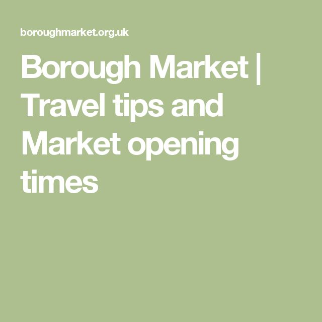 Market opening times
