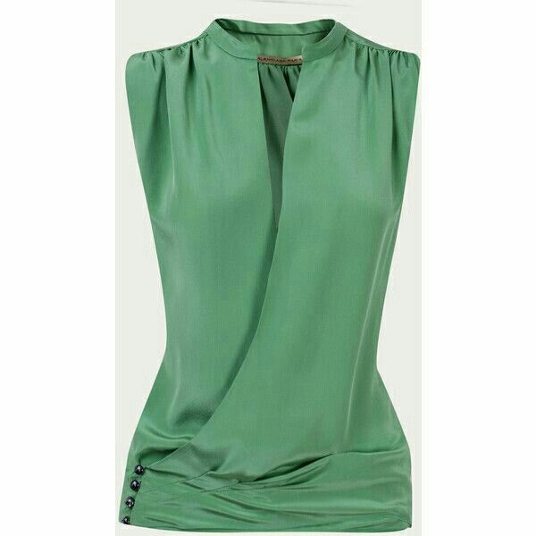 Beautiful; especially love this color.  Neckline is iffy depending on how deep that V is...