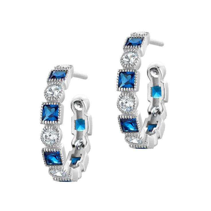 Tocara Earrings Blue spinel Post Earrings Online order : https://www.tocaraplus.com/sylviedenault/IndvItem.asp?InventoryID=3019