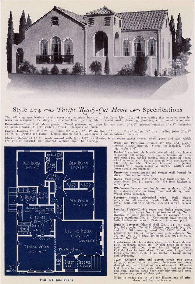 Spanish revival bungalow house plans for Spanish eclectic architecture