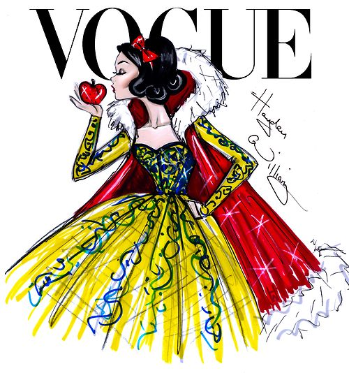 Disney Divas for Vogue by Hayden Williams: Snow White ❥|Mz. Manerz: Being well dressed is a beautiful form of confidence, happiness & politeness