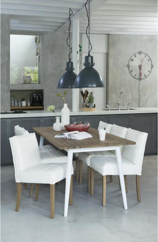 A brilliant #dining table from the Fusion range by #d-Bodhi. Mixing vintage with modern, natural with finished looks.   #furniture #hunterfurniture #furniturehunters #diningtable #dinnerparty #lunch