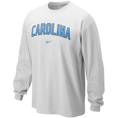 Nike North Carolina Tar Heels (UNC) Classic Arch Long Sleeve T-Shirt - White