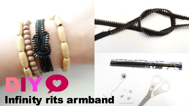 DIY Infinity rits armband on http://www.beautynailsfun.nl/2014/03/diy-infinity-rits-armband/