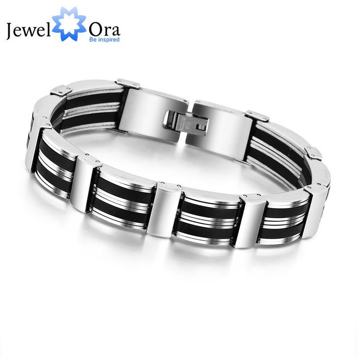 20cm 304 Stainless Steel Bracelets For Men New Fashion Punk Bracelets & Bangles Jewelry (JewelOra BA101256)
