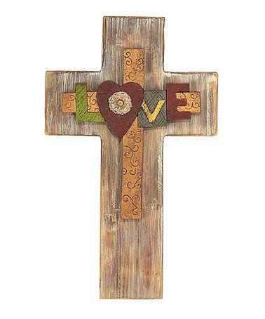 'Love' Cross Wall Art #zulily #zulilyfinds