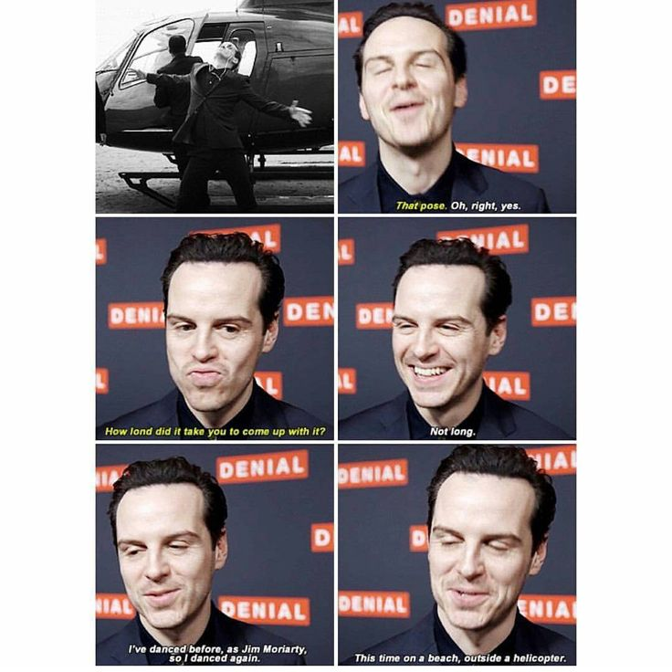 Andrew about Moriarty's big entrance in Series 4 xD