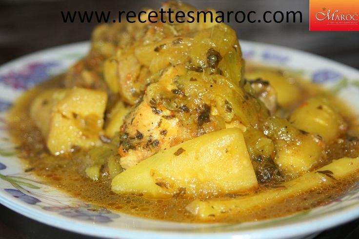 Tajine de poulet aux panais http://www.recettesmaroc.com/recettes/plats/recette-tajine-de-poulet-aux-panais