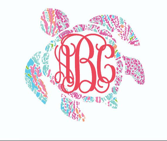 Lilly Pulitzer inspired sea turtle by aSweetSouthernAccent on Etsy