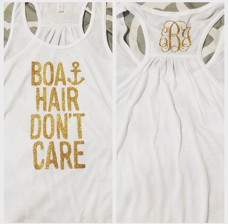 Boat Hair Don't Care Tank Top with Monogram by SouthernGlamCustoms on Etsy https://www.etsy.com/listing/229931293/boat-hair-dont-care-tank-top-with