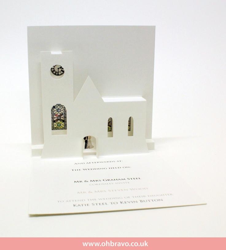 Church wedding invite inside - www.ohbravo.co.uk