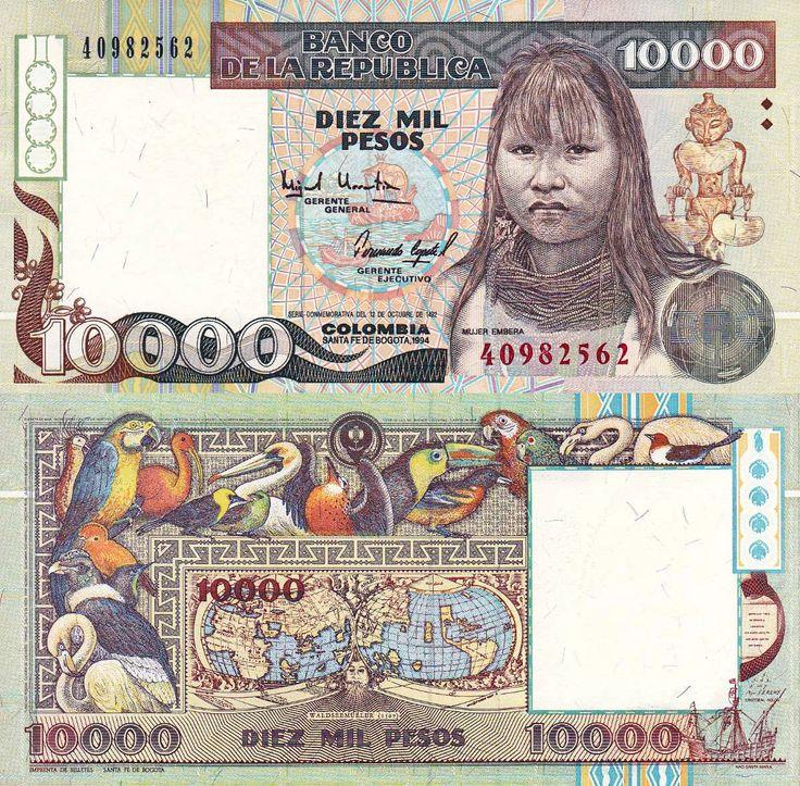 Billete - Colombia (1985-1999) - 10000 pesos