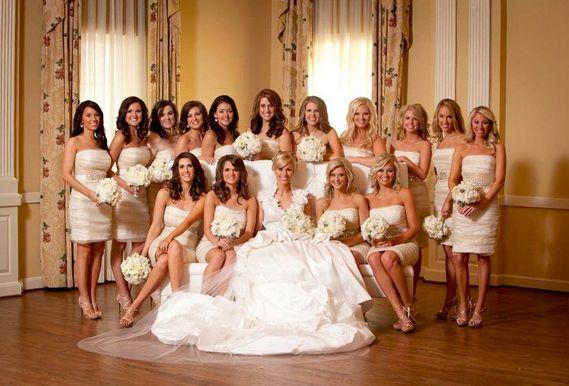 Can You Wear Cream To A Wedding: Bridesmaids Dresses Badgley Mischka Couture Cream Silk