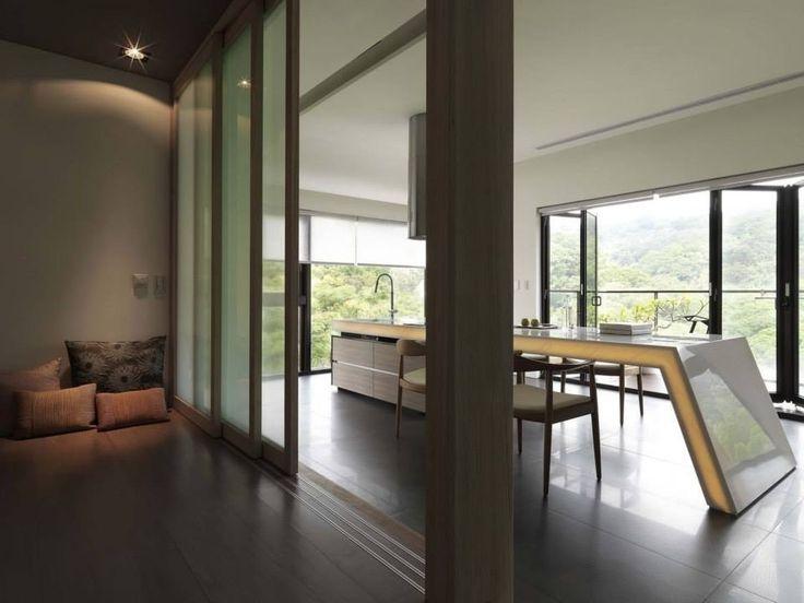 Architektur asiatische inneneinrichtung innenarchitektur modernes design haus innenräume küchen design vordach grundrisse paravents