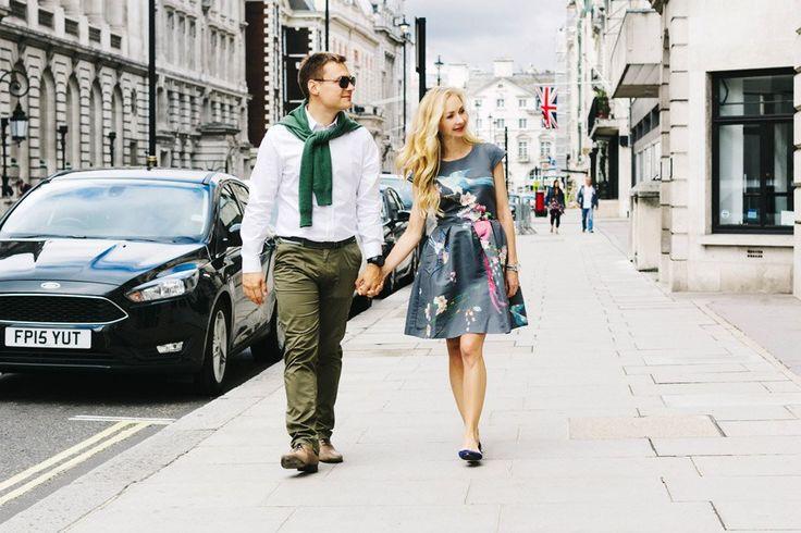 Прогулочная фотосессия в Лондоне для пары. Фотосессия в городе. Урбанистическая фотосессия. Photo shoot in London. Urban photo shoot