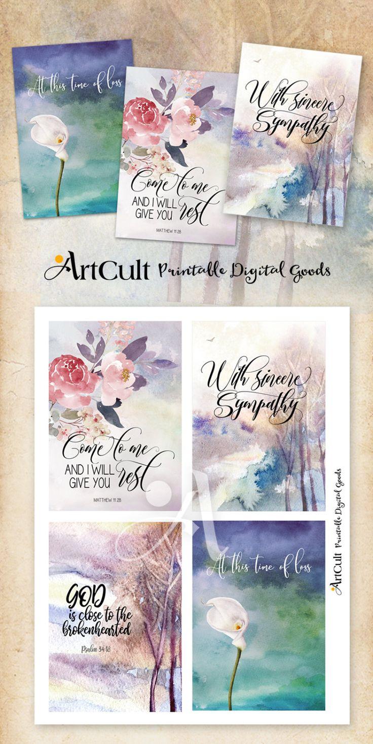 printable sympathy condolence cards no 1 digital download