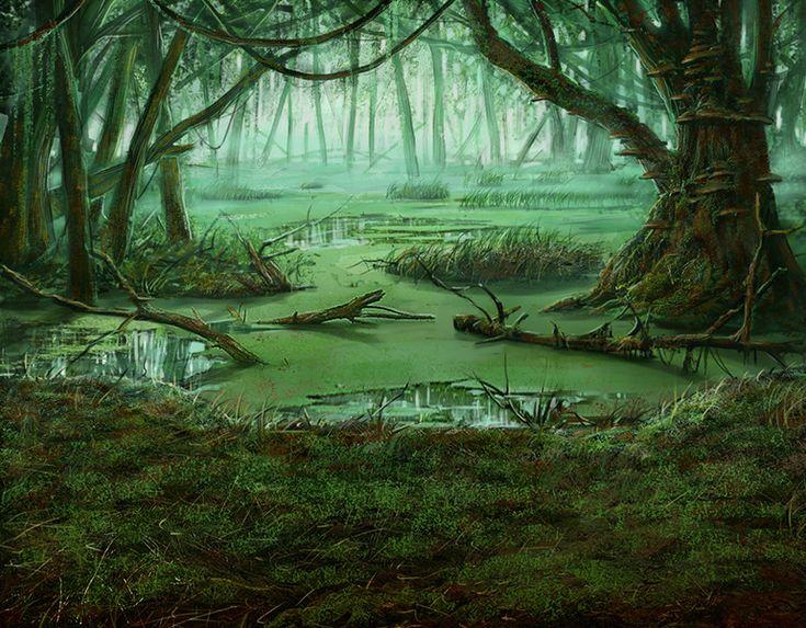 swamp art - Поиск в Google   Swamp   Fantasy landscape ...