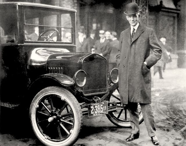 Henry Ford (July 30, 1863 – April 7, 1947) was an American industrialist, the founder of the Ford Motor Company, and sponsor of the development of the assembly line technique of mass production. His introduction of the Model T automobile revolutionized transportation and American industry. As owner of the Ford Motor Company, he became one of the richest and best-known people in the world.