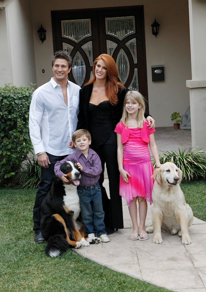 Cancer Survivor Angie Everhart on Home Life With Her Fiancé & Their Blended Family! | Closer Weekly