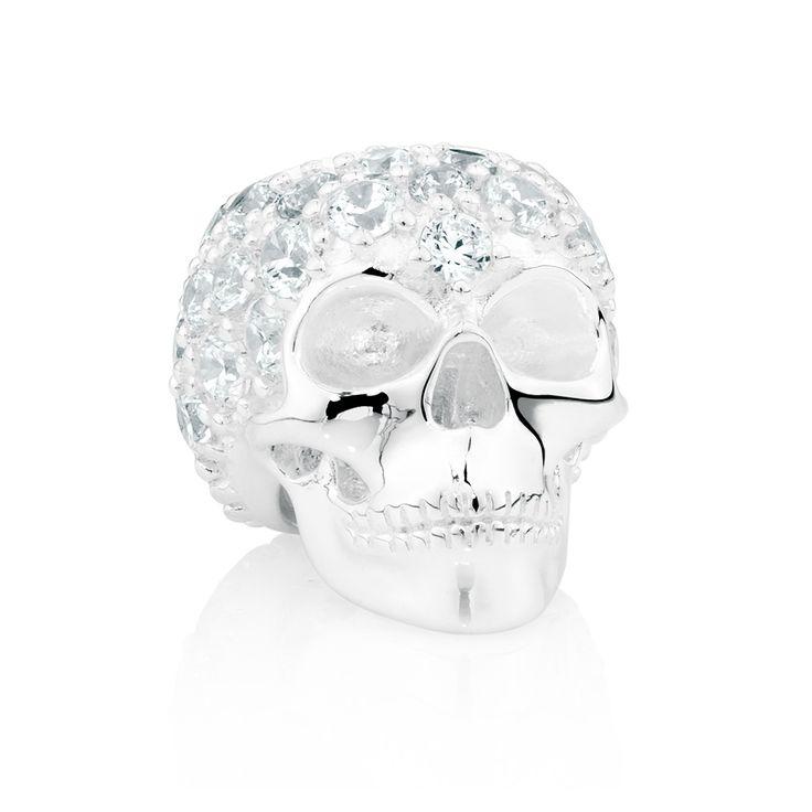 Sterling silver cubic zirconia charm (12871490) #wildheart #emmaandroe