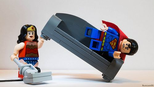 LEGO DC Superheroes Wonder Woman & Superman Minifigs | Home Sweet Home 2, by Black Jack / black.jack00 on Flickr