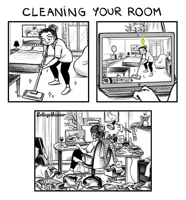 challenges of being an adult by C. Cassandra, cleaning your room