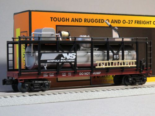 MTH-RAIL-KING-NORFOLK-SOUTHERN-FIRE-CAR-ns-train-water-tank-fireman-30-79489-NEW