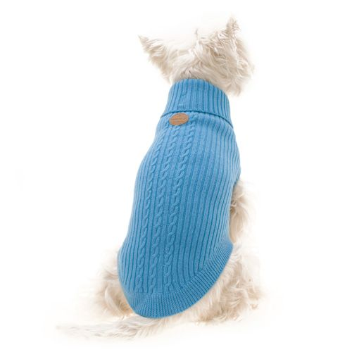 Blue Wool Dog Jumper - Woof Woof and Meow