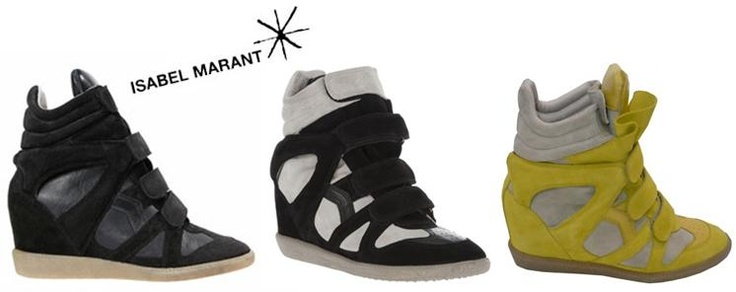 Isabel marant trainers--I have the black & white ones. Love them!