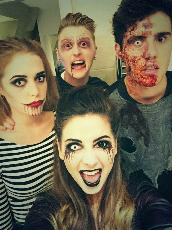 Un maquillage pour halloween - femme, homme - maquillage zombie