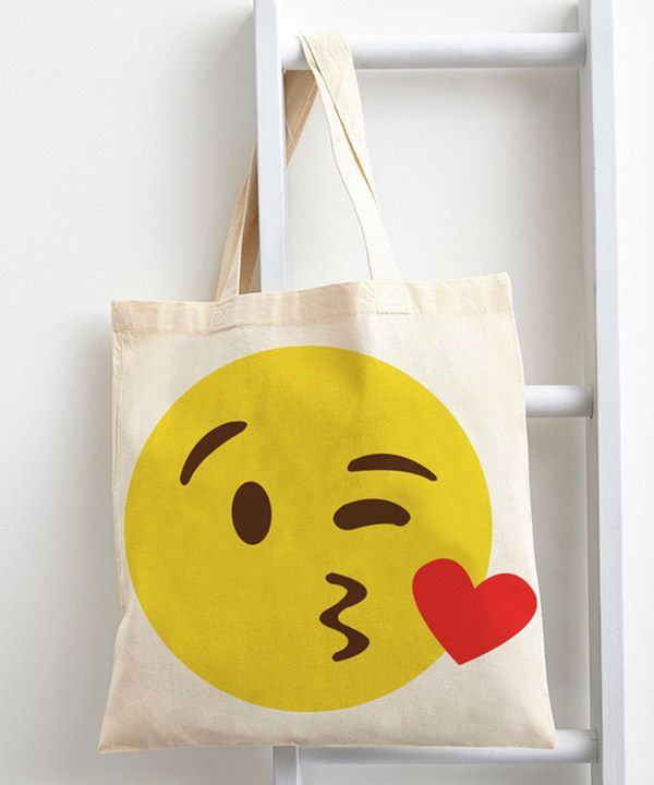 Look at this Kissy Emoji Tote Bag on #zulily today!