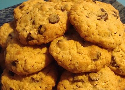 """Food Floozie: Hillary Clinton's Oatmeal Chocolate Chip Cookies.  My GaGa Mildred made these every week for YEARS!  They are wonderful.  The key is to under bake them.  She called them her, """"Democrat Cookies""""."""