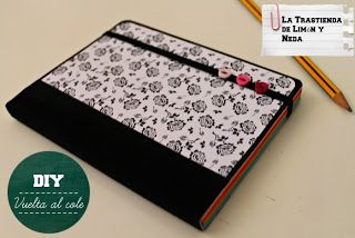 Tutorial libreta customizada con Scrapbook. DIY notebook customized