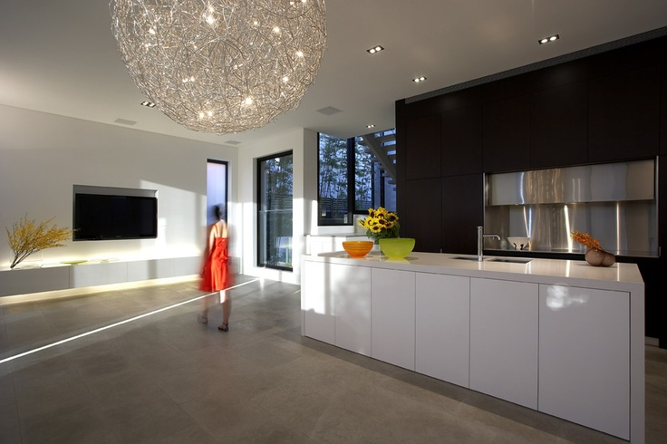 Clean lines, polished concrete, open space... love!