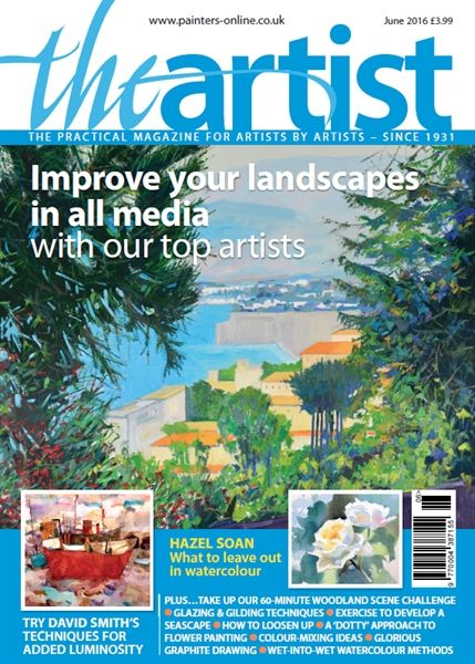 June 2016 issue of The Artist. Buy online, http://www.painters-online.co.uk/
