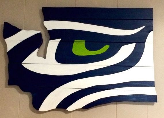 Seahawks wall sign by LJsPallets on Etsy