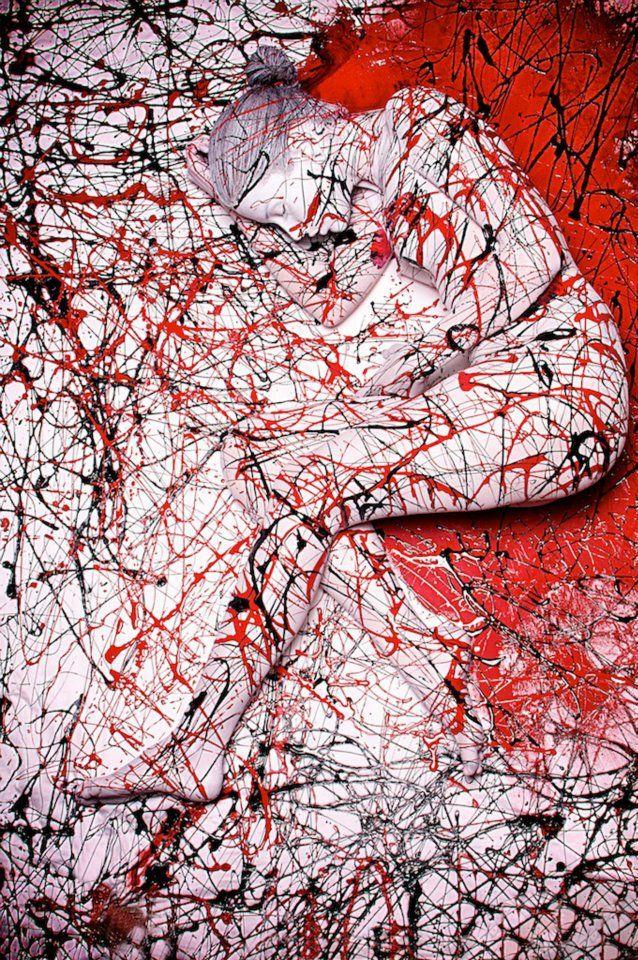 Splatter Body painting