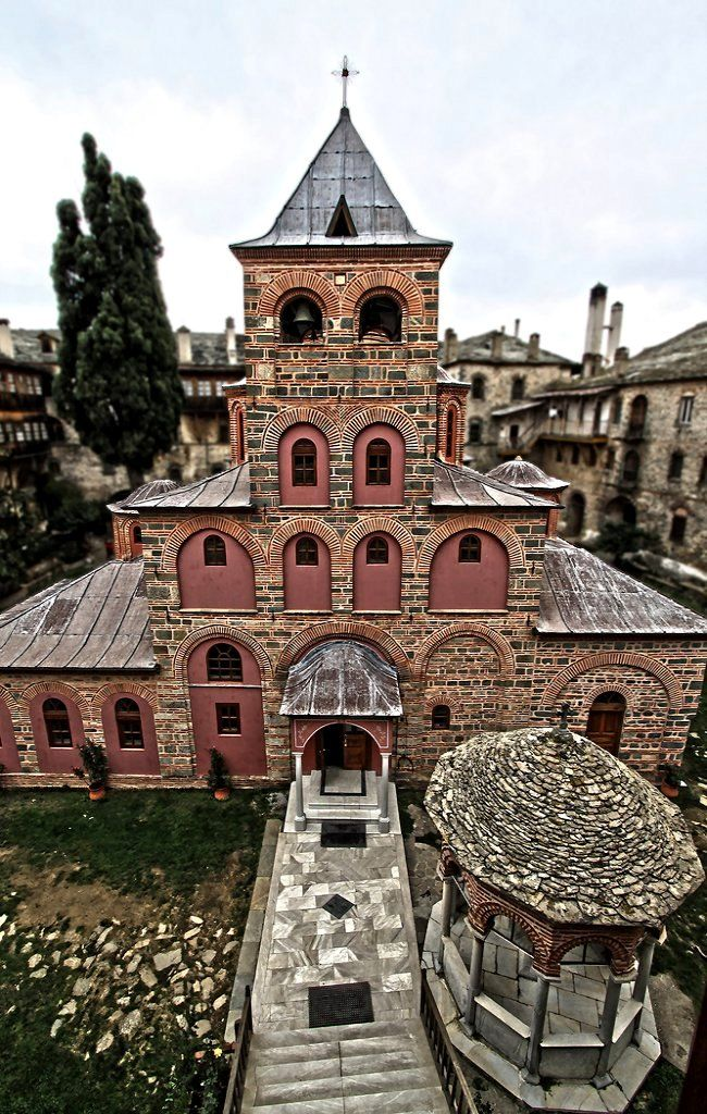 The main church (katholikon) of Philotheou monastery, Mount Athos, Greece | by ΒΦ photography