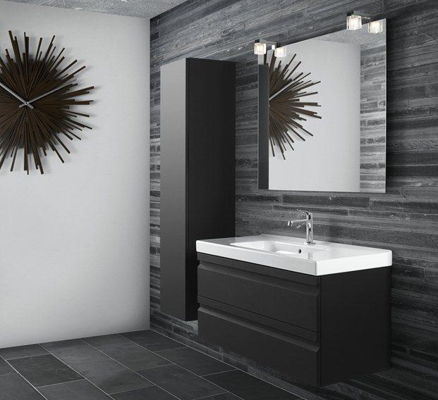 Dansani Zaro badkamer:  Moderne serie met ingewerkte greeplijsten. Speciale oppervlakken als rubberlak en speciaal houtfineer maken van uw meubel iets aparts!