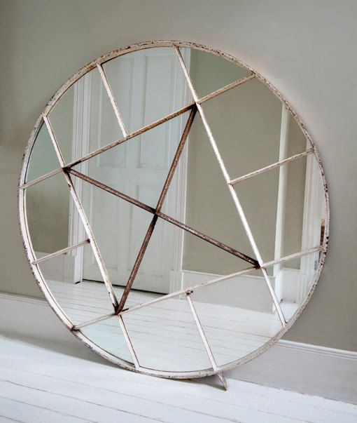This huge salvaged mirror would make an amazing impression! #DeborahBeau