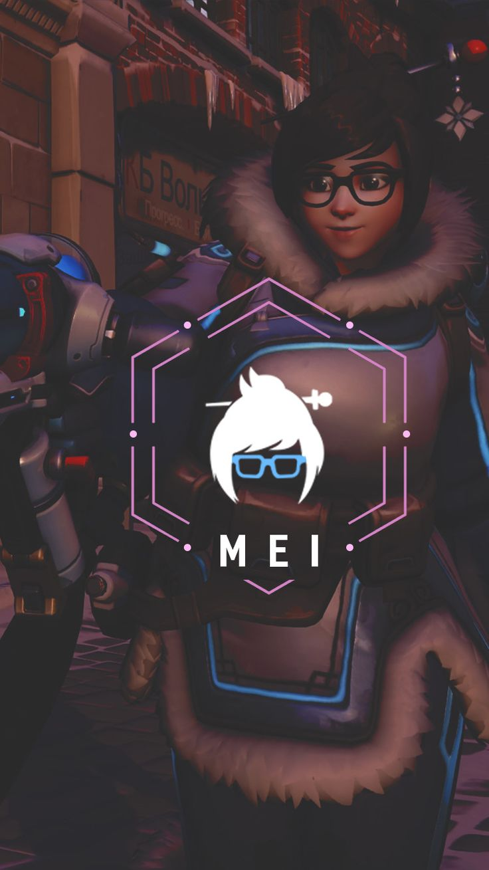 Overwatch - Mei Wallpaper Mobile, C L W N on ArtStation at https://www.artstation.com/artwork/n6zW4